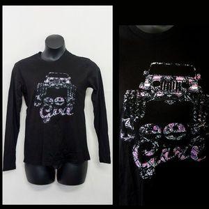 Jeep Girl Graphic Tee XL Long Sleeve Shirt Top
